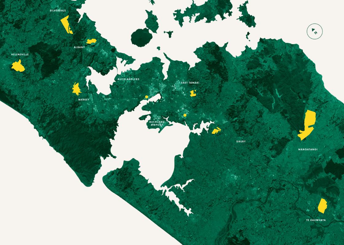 Hugh Green Group map